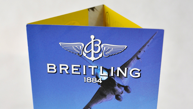 Design gráfico Club Breitling Portugal