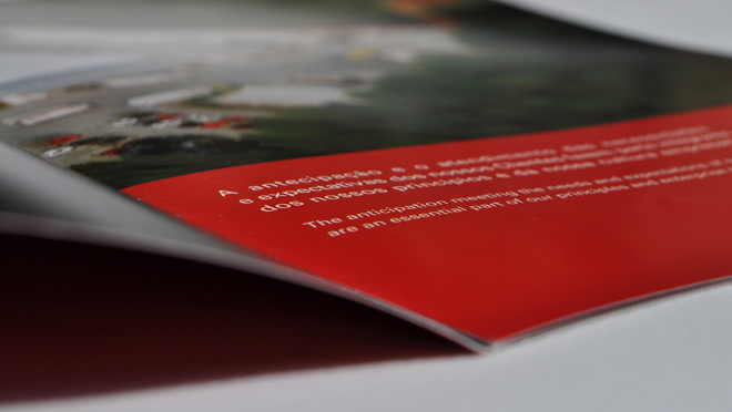 Design of brochure Eurospuma