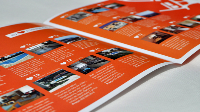 Design of flyers, leaflets and brochures Urban Pattern