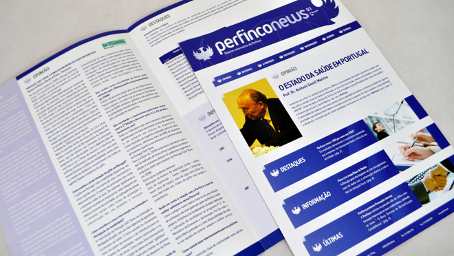 Design de newsletter Perfinco