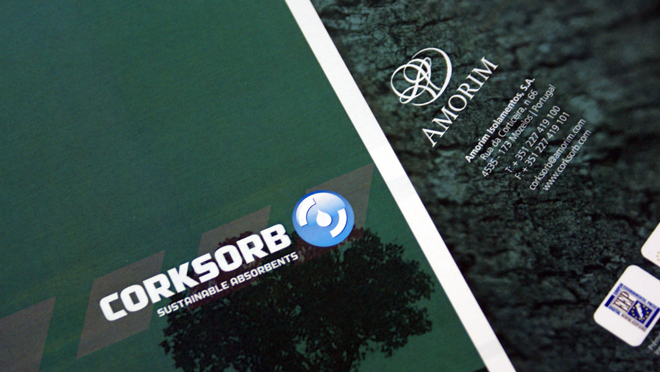 Design of brochure Amorim Group