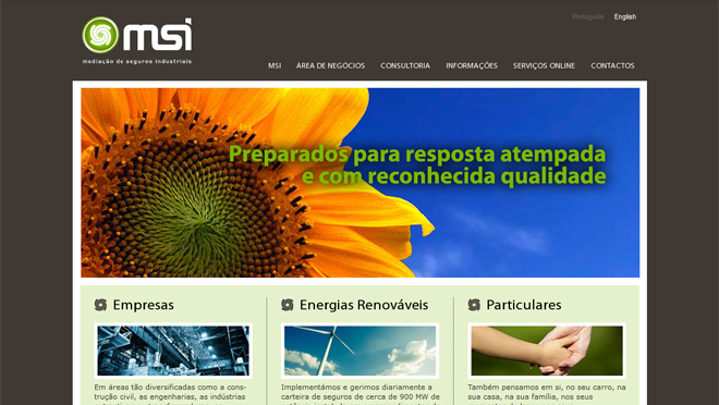 Creation of site MSI Insurance