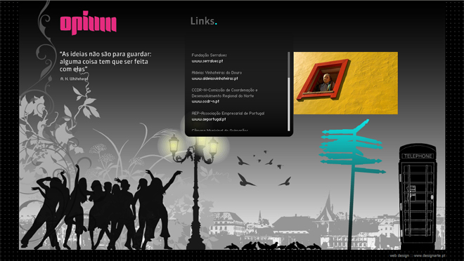 Animation and web design Opium