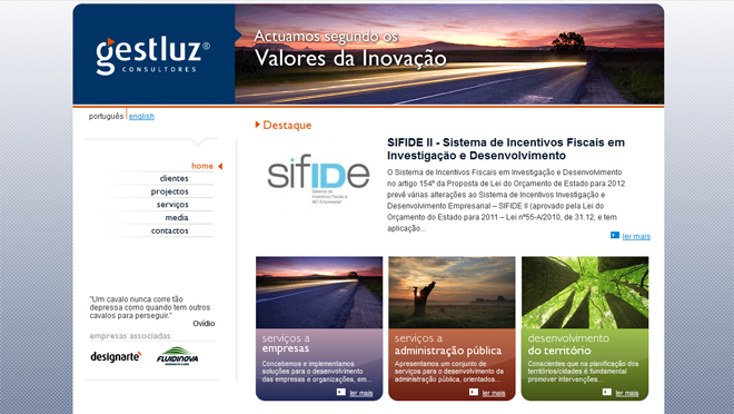 Site creation Gestluz